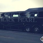 Black Limo Bus