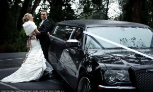 wedding and car