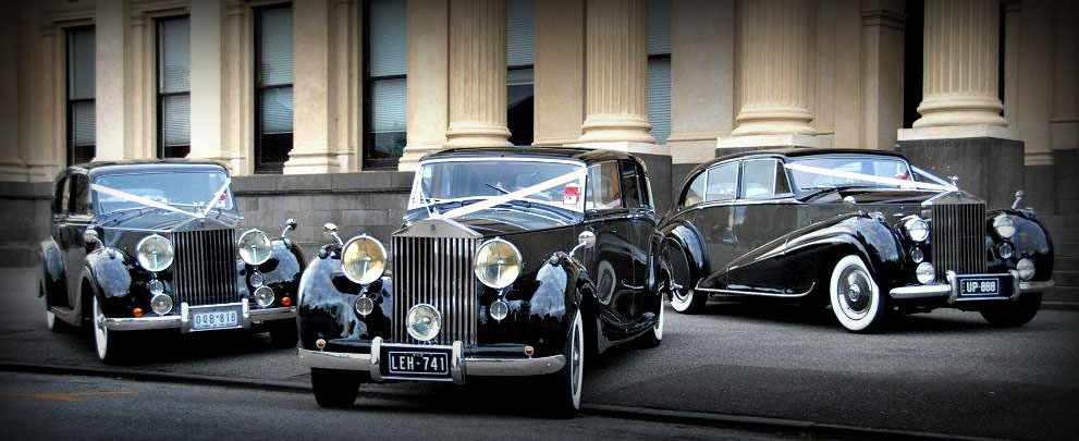 1947, 1949, 1951 Silver Wraith Rolls Royce Wedding Cars Melbourne