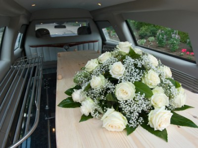 Limousine used for funeral